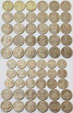 Konvolut Lot Sammlung Rubel Russland 60 Münzen 1, 3 und 5 Rubel 1965 - 1991