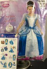 Disney Supreme Cinderella Child Dress-Up - Medium 8 To 10 + Tattoos - New