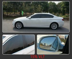 VLT15% Nano Car Tinted Window Film IR 100% UV400 Solar Skin Care Protective