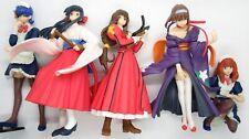 """Bandai Sakura Wars 2 & 3 Gashapon 4"""" Hgif Figure Collection 5 Set Taisen Japan"""