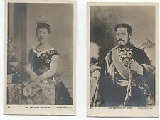 Two 1907 Rppc Postcards of the Emperor & Empress of Japan