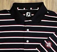 Men's FOOTJOY FJ Short Sleeve Polo Golf Shirt Medium Standard Country Club