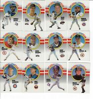 1990 FLEER BASEBALL ALL-STARS SET OF 12 INSERT CARDS