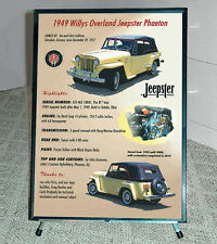 Professional Antique Car SHOW BOARD DISPLAY Framed with tripod