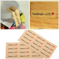 120X DIY Kraft Sealing Stickers Paper Crafts Hand Made Label Packaging StickerEF