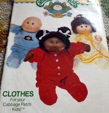 """*VTG 1980s CABBAGE PATCH CLOTHES Sewing Pattern Height 16"""""""