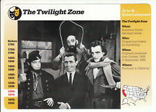 The Twilight Zone Rod Serling Cast Tv Show 1996 Grolier Story Of America Card