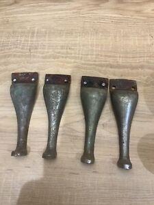 Antique Brass  Legs Set Of 4 Repurpose Table Planner Salvage
