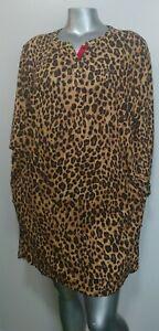 NWT PLUS Woman LAUREN~RALPH LAUREN KNIT SLEEPSHIRT PAJAMAS Size 1X Leopard LOGO