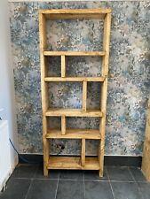 Handmade Bespoke Chunky Rustic Reclaimed Wood Pine Farmhouse Bookcase Storage