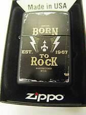 Zippo® Born to rock Thunder Black matte - New / Neu OVP MUSIK MUSIC