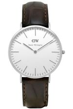 Daniel Wellington Watch * 0211DW Classic York 40MM Croc Brown Leather COD #crzyj