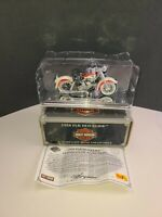 Harley Davidson 1958 FLH DUO GLIDE 1:18 Die Cast Metal Collectible W COA