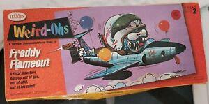 Weird-Ohs Freddy Flameout fantasy funny jet plane Testor's plastic model kit