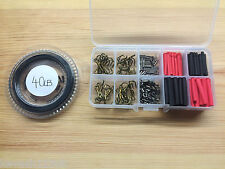 Pike/Game/Sea Fishing Trace Making Kit.Over 200 Pieces + a 10 Section Tackle Box