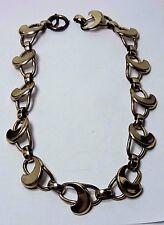 """Antique Vintage NAPIER Gilt Sterling Silver Large Link Necklace 15 1/2""""  #KK398"""