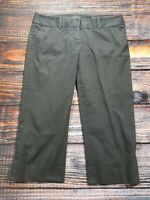 The Limited Women's Black Drew Fit Career Work Capri Pants Size 12 Inseam 22""