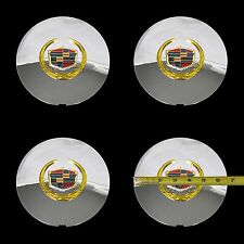 4 Cadillac Deville DTS Chrome Gold Wheel Center Hub Caps 5 Lug Rim Cover Hubs RG