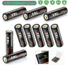 Lot Rechargeable 3300mWh AA Battery 1.5V Li-ion Lithium Batteries & USB Cable