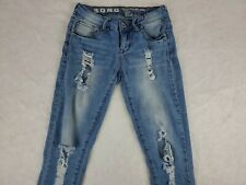 SONG Rocker Skinny Jeans Size 1/25 Mid Rise Ankle Distressed