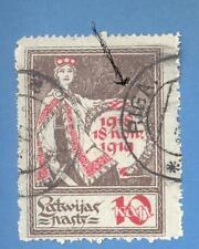 LATVIA LETTLAND USED 10 KOP. SC.60 ERROR 2593