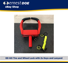 EZGO Wheel and Tire Clamp With Lock, 2x Keys and Lanyard | Genuine EZGO
