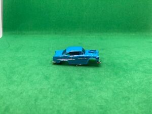 ORIGINAL AURORA AFX MAGNA-SONIC, '55 CHEVY BODY, BLUE, LOOKS GOOD