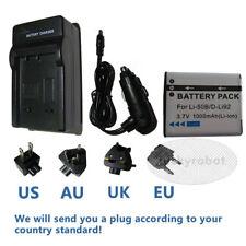 Battery+Charger for Pentax Optio WG1 WG2 WG3 WG-1 WG-2 WG-3 GPS Digital Camera
