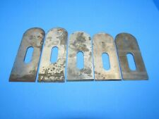 parts lot 5 irons blades cutters for Stanley 9-1/2 wood block plane lg rectangle