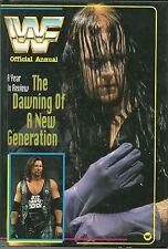 VERY RARE WWF BOOK UNDERTAKER , BRET THE HIT MAN HART , DIESEL, BRITISH BULLDOG