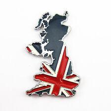 100% Metal 3D UK England Map Flag Emblem Badge Car 3M Decal Sticker Car Body Kit