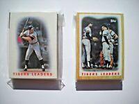 1986 & 1987 Topps Detroit Tigers Team Set LOT (2 Sets, 59 Cards) Near Mint