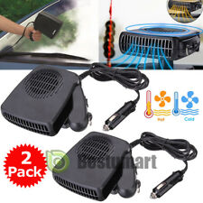 2X 2 in 1 Car Portable Ceramic Heating Cooling Heater Fan Defroster Demister 12V