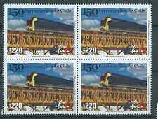 CHILE 2001 Train Locomotive railway railroad MNH block of 4