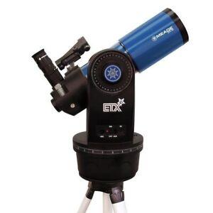 MEADE ETX-80AT-TC Telescope, Deluxe Field Tripod. No Autostar Controller