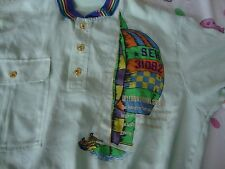 Vintage PRIOALEGRE Sailboat Rare Collar Polyester Shirt Size 48 XL