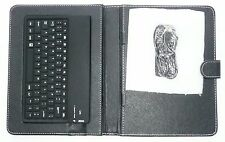 """BLACK CASE WITH BLUETOOTH KEYBOARD FOR 8"""" Tablet/iPad with Magnetic Latch >NEW<"""