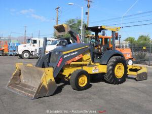 2015 John Deere 210K 4x4 Skip Loader Box Scraper Tractor 4 in 1 Bucket bidadoo