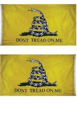 3x5 Gadsden Don't Tread on Me 2 Faced Double Sided 2-ply Spun Polyester Flag #2
