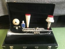 BACH TR300 SILVER STUDENT TRUMPET, SELMER HARDCOVER, EXCELLENT CONDITION