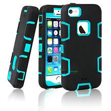 Shockproof Hybrid Rugged Rubber Hard Back Cover Case For Apple iPhone 5 5S SE