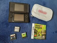 Nintendo DS Lite & 3x Games Mario Kart Asphalt GT Mini Ninjas Black Bundle