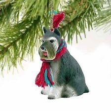 Conversation Concepts Schnauzer Miniature Dog Ornament - Gray