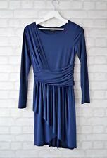 Topshop Navy Drape Front Dress Size 8