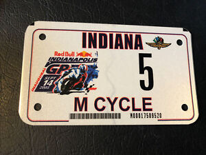 Indianapolis Moto GP Motorcycle Race License Plate IMS Inaugural Red Bull 2008
