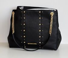 MICHAEL KORS Damen Tasche JET SET ITEM LG STUDDED SHLDR  Leder black