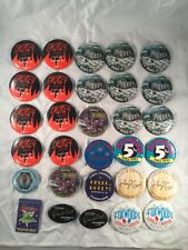 Foxwoods Casino & Resort Connecticut CT Promo Pins Buttons Pinbacks Lot of 30