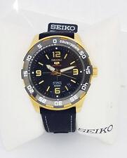 SEIKO 5 Automatic SPORTS 100m 23 jewels Black cloth strap SRPB86K1 New gold