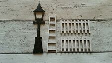 FAIRY DOOR ACCESSORIES PICKET FENCE LADDER AND STREET LAMP GIFT SET