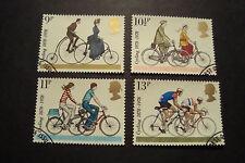 GB 1978 timbres commémoratifs ~ Cyclisme ~ Très Fine Used set ~ Vendeur Britannique